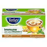 Tetley Green Tea Immune with Added Vitamin C, Ginger, Mint & Lemon, 25 Tea Bags