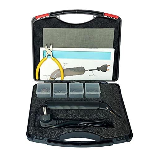 gazechimp Kit de máquina de reparación de carrocería de carenado de soplete de soldadura de plástico, engrapadora caliente de soldadura herramientas de garaje