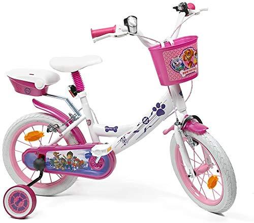 Bicicleta para niña con Licencia de la Patrulla Canina 16', Color Blanco