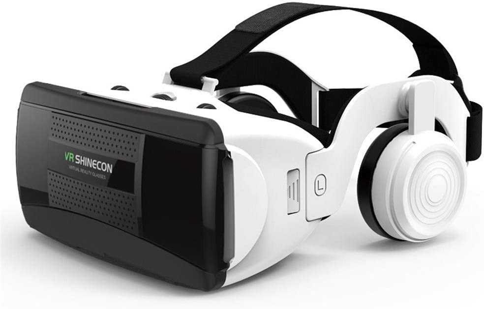 VR Glasses - Thousands of Mirror Glasses VR Glasses 3D Virtual Reality Headsets and HiFi Headphones Removable Headphones for 4.7 to 6.1 Inch Smartphones Virtual Reality 3D Glasses and Headphones