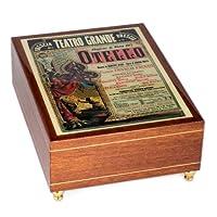 Otello イタリア製 手作り 天然木 ミュージカルジュエリーボックス オルテロ スイス製ミュージカルムーブメント