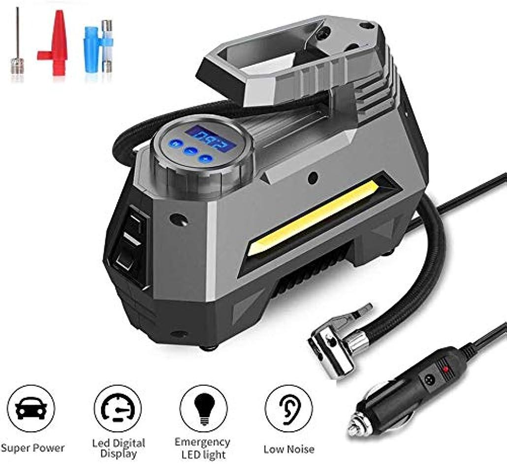 参加者地下室ブレンド携帯用圧縮機車のタイヤのインフレーター、LEDライトが付いている12v電気自動車ポンプ車のバイクのバスケットボールのためのデジタルタイヤのインフレーター