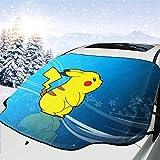 ポケットモンスター ピカチュウ (3) カーフロントカバー 車サンシェード 防水 防塵 雪対策 凍結防止カバー日よけ 遮光断熱 四季用 自動車の前は風防雪除けだ147*118cm Suv車/軽自動車に適用