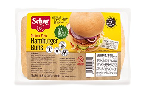 Schar Naturally Gluten-Free hamburger buns, 10.6 Ounce (Pack of 24)