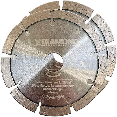 LXDIAMOND 2x Diamant-Trennscheibe Ø 125mm x 22,23mm Beton Stein passend für Diamantfräse Schlitzfräse Mauernutfräse Mauerschlitzfräse Wandfräse Diamantscheibe 125 mm