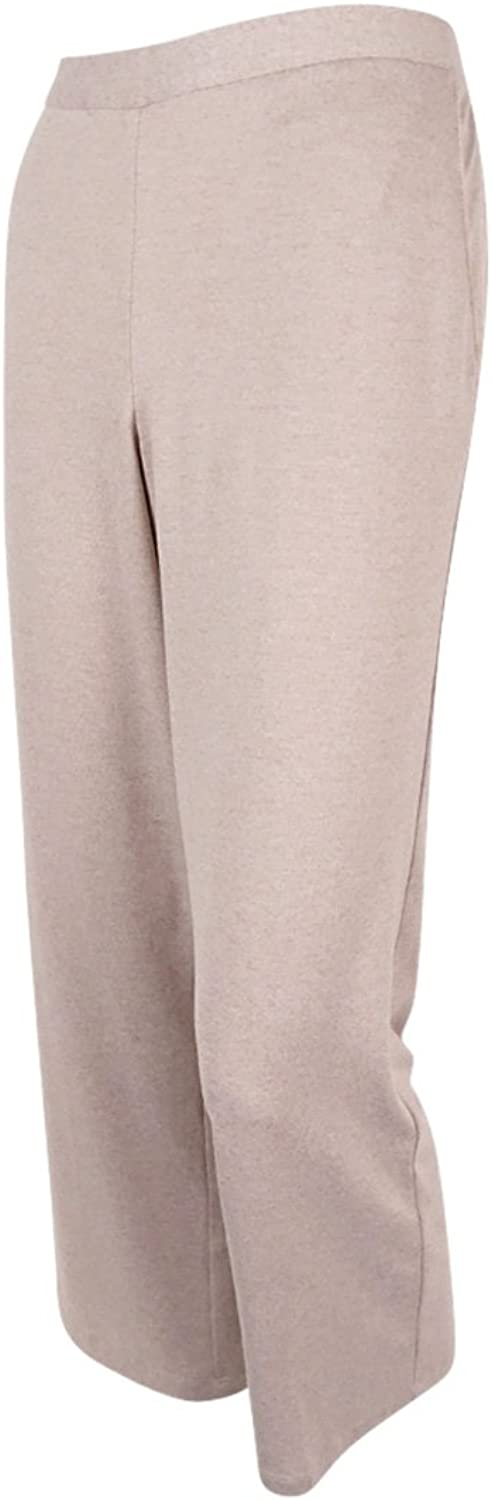Alfred Dunner Womens Petite Clean Front Slim Leg Knit Pant Pants