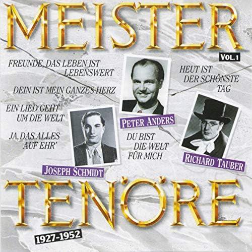 Joseph Schmidt, Richard Tauber, Peter Anders