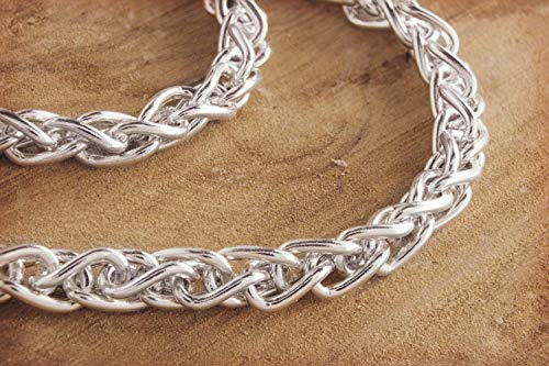 Simple Chain Necklace Mens Silver Necklace Unisex Gift//code: 0.020 925 Sterling Silver Solid Silver Curb Chain Thin Chain Necklace