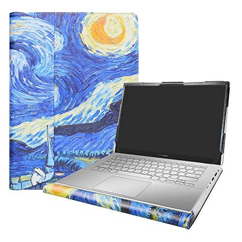 Alapmk Specialmente Progettato PU Custodia Protettiva in Pelle per 14' ASUS VivoBook X420UA / ZenBook 14 UX431FA (Non compatibili con: ASUS ZenBook UX430UA UX410UA / VivoBook 14 X411UF),Starry Night