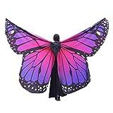 MRULIC Damen Weiche Gewebe Schmetterlingsflügel Schal Nympho Pixie Fasching Cosplay Weihnachten Cosplay Kostüm Zusatz