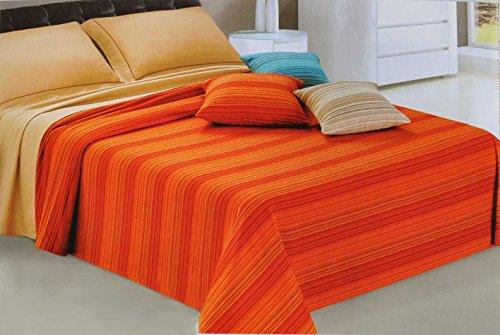 CASA TESSILE Sahara Couvre-lit de Couverture de Meubles Unique 180 x 260 cm - Beige