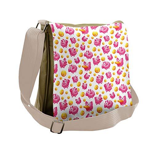 Lunarable Pig Messenger Bag, Coin B…