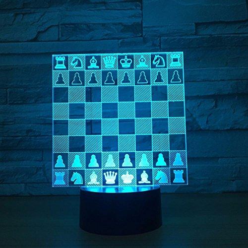 LPHMMD Nacht Licht Schaken 3D LED Lamp 7 Kleuren Nachtlampen Touch Led USB Lamp Slee Home Decor Nachtlampje Vrienden Oude Man Gift