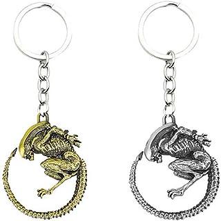Feijinmao Alien vs Predator KeychainZinc Alloy Alien vs Predator Peripheral Characters Keychain Accessories Car Key Backpa...