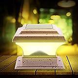 Luces Solares para Poste, Poste Luces Solares LED de Poste de Luces de Jardín Iluminación LED para Valla de Energía Solar al Aire Libre Lámpara de Pilar para Postes de Madera/Cubierta/Patio/Valla