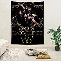 ブラックベイルブライズ壁掛け風景3D印刷デジタル印刷家の装飾タペストリー150x200cm