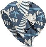 Whecom Strickmtzen, Art Deco Modern Aviation Valentine Funny Upgrade Hip-hop Adult Pullovers, Adult Knit Beanie Warm Knit Ski Skull Cap Beanie Mtze One Size fr Damen und Herren