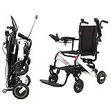 ZHITENG Silla de ruedas eléctrica, plegable, para ancianos, discapacitados, coche, doble controlador, inteligente, c