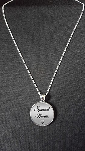 Special Auntie Pendant On 18' Silver Plated Fine Metal Chain Necklace Ideal...