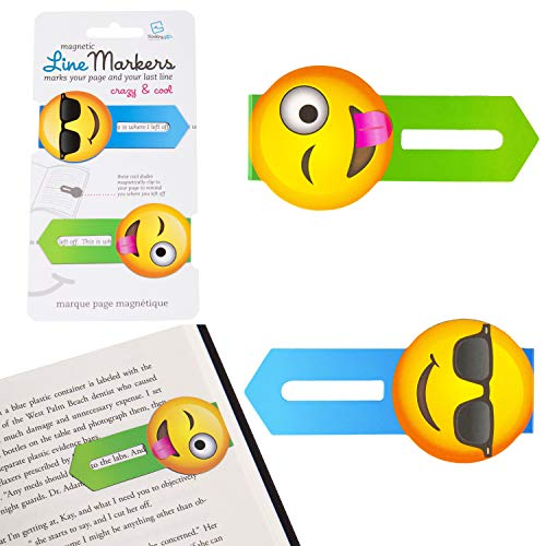 Gifts for Readers & Writers Line Markers Novelty Fun Magnetic Bookmark Page Holder Book Lover Reading Gift – Crazy and Cool