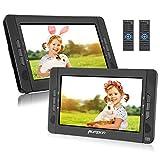 Pumpkin Lecteur DVD Voiture Deux Ecran d'appuie-tête indépendants 10,1 Pouce (2 Lecteurs DVD) pour Enfants supporte Région Libre USB SD MMC Autonomie de 5 Heures