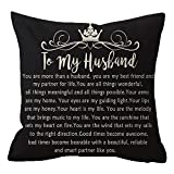 Birthday Gift to Husband with Inspirational Words Body Black Cotton Burlap Linen Pillowcase Pillow Sham Cushion Cover Sofa Decorative Square 18x18 Inches