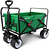BEAU JARDIN Folding Wagon Cart 300 Pound Capacity...