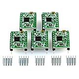 5 módulos de controlador de motor paso a paso A4988 con disipador de calor para escudos CNC, RAMPS 1.4, impresora 3D, Prusa Mendel