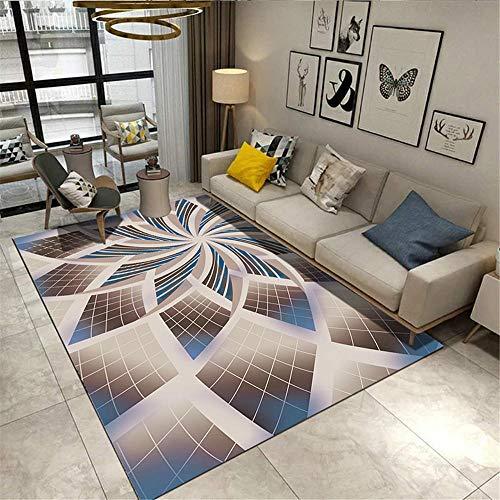Kunsen alfombras oficinas Home Decoracion Dormitorio Alfombra Rectangular Azul marrón Antideslizante Humedad Alfombra niño 80X160CM 2ft 7.5' X5ft 3'