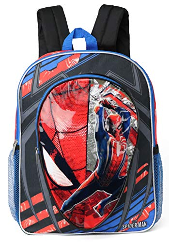 Marvel Spiderman 16' Backpack With Molded Eva Front Backpack (Red/Grey)