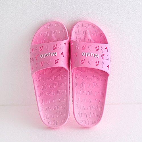 fankou Zapatillas de Mujer Cool Verano Viaje Interior y Exterior Gruesa Inicio Adultos Zapatillas de Baño,35-36,una Música