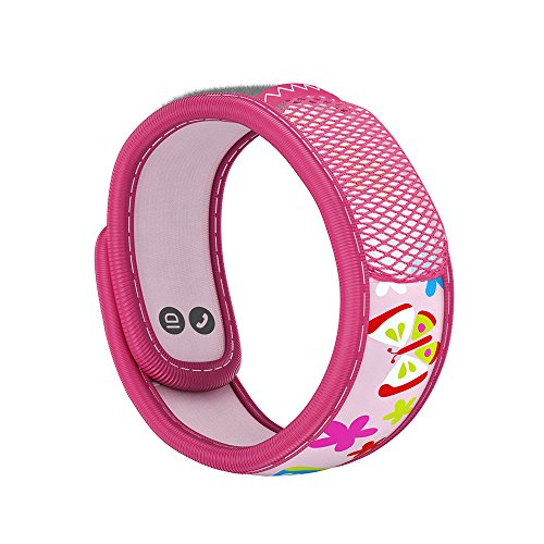 PARA'KITO Mosquito Insect & Bug Repellent Kids Wristband - Waterproof, Outdoor Pest Repeller Bracelet w/ Natural Essential Oils (Butterfly)