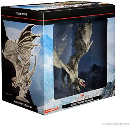 WizKids D D Icons of The Realms Adult White Dragon Premium Figure product image