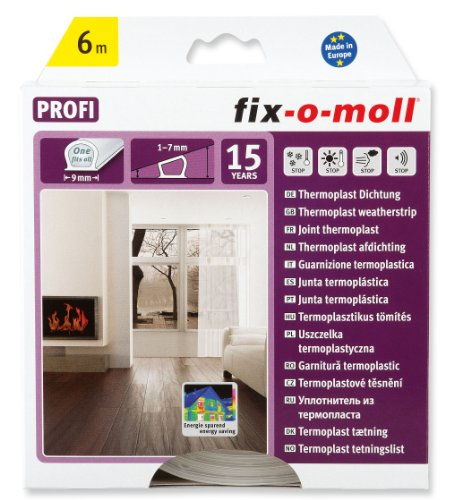 fix-o-moll Thermoplast Dictung 6 m 7 x 9 mm transparent, 3565200