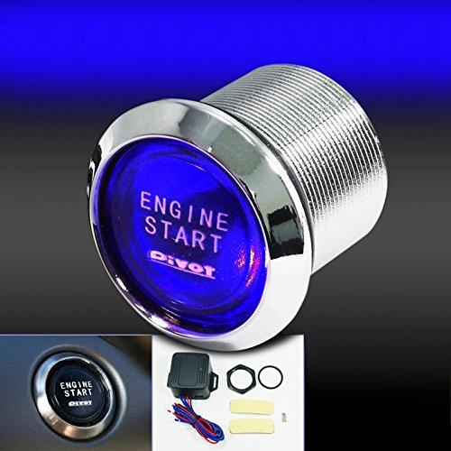 Bleiou 12V Car Engine Start Push Button Switch Ignition Starter Kit Blue LED Universal