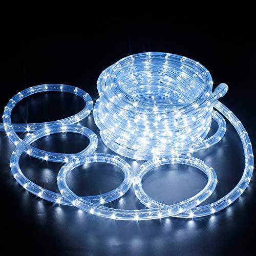 Forever Speed 6 Mètres LED Tube Lumière Lumineux, LED Tubes Lumineux Extérieur et Intérieure pour Jardin, Noël, Mariage, Fête,Salle de Séjour, LED Tuyau Bande IP65,Blanc Froid