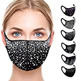 Ciana Sparkly Rhinestone Face Mask, Bling Face Mask-Sequin Mask for Women
