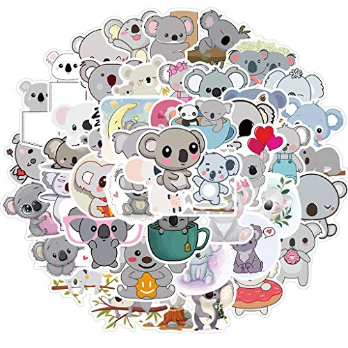 Irjdksd 50PCS Cute Waterproof Koala Stickers for DIY Suitcase Skateboard Phone Car Kids Gift Laptop Desk Party Indoor Decoration Tiny Stickers Cute Stickers Aesthetic Stickers