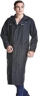 Liveinu Adult Lightweight PVC Long Size Hooded Raincoat