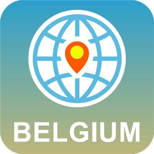 Bélgica Mapa Desconectado