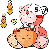 Teddy Bear Color by Number - Grownups Paint + Glitter + Crayon Coloring Pages