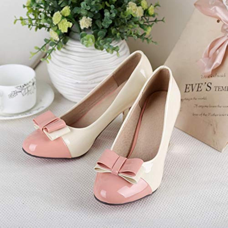 MENGLTX High Heels Sandalen Plus Plus Größe 34-43 Schuhe Damen Schuhe Damen Pumps High Heel Round Toe Hochzeitsschuhe High Heels 2-17  ganz billig
