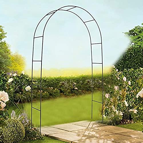 ZXYSR Arco de jardín de Metal, para Plantas trepadoras decoración de Bodas Muy Adecuado para Patio con césped 240cm * 140cm * 39cm(Verde Oscuro)