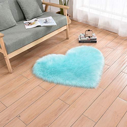 Artificial sheepskin, artificial wool, chair cushion, heart-shaped carpet, bedroom bedside mat