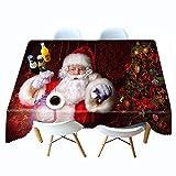 Mantel Elegante Simple Lavable Navidad Mantel Impreso en 3D cabaña Mantel de Personalidad de Navidad Mantel de Personalidad Colgante de Tela 80x180cm