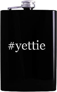 #yettie - 8oz Hashtag Hip Alcohol Drinking Flask, Black