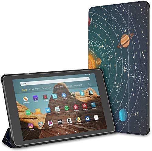 Fall für erstaunliche Sonnensystem Space Fire HD 10 Tablet (9./7. Generation, Release 2019/2017) Fall für EIN Kindle Fire 10 Fire Tablet HD 10 Fall Auto Wake/Sleep für 10,1-Zoll-Tablet