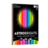 "Astrobrights Colored Cardstock, 8.5"" x 11"", 65 lb / 176 gsm, 'Spectrum' 25-Color Assortment, 75 Sheets (80944-01)"