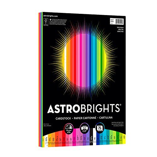 "Astrobrights Colored Cardstock, 8.5"" x 11"", 65 lb / 176 gsm,"