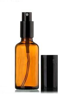 زجاجات عنبر سعة 30 مل، زجاجة بخاخ فارغة دائرية مع بخاخ أسود - مثالية لتركيبات الزيوت العطرية والروائح العلاجية وجميع منتجا...
